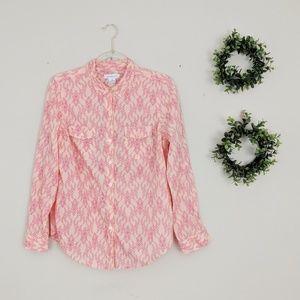 Liz Claidborne | Coral Pink Button Down M
